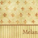 Stripes Fleur de Lis  PERSONALIZED Note Cards