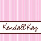 Stripes Pink Brown PERSONALIZED Notecards Note Cards