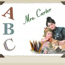 Teacher Gift  PERSONALIZED Note Cards Victorian