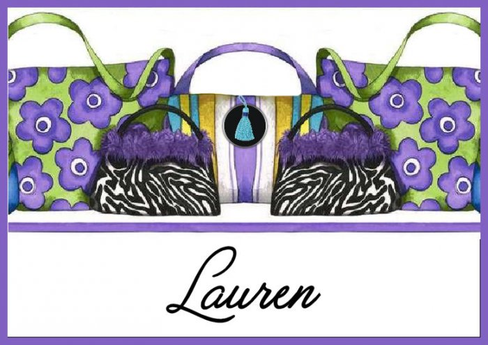 Zebra Animal Print Handbag PERSONALIZED Note Cards