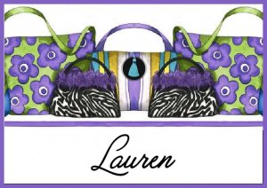 Zebra Animal Print Handbag PERSONALIZED Note Cards