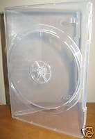 15 Brand New 14mm Clear DVD cases