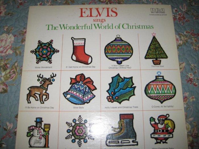 Elvis sings The Wonderful World of Christmas 33 1/3 rpm