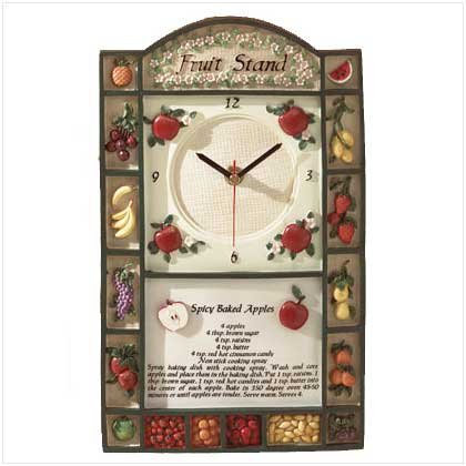 """Fruit Stand"" Clock - 31178"