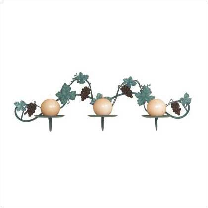 Grapevine Garland Wall Candleholder - 34137
