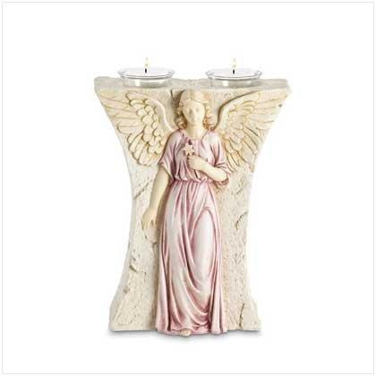 Bas-Relief Angel Votive Holder - 37147