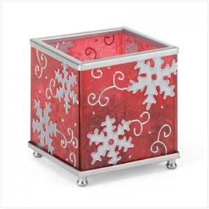Square Snowflake Candleholder - 37155
