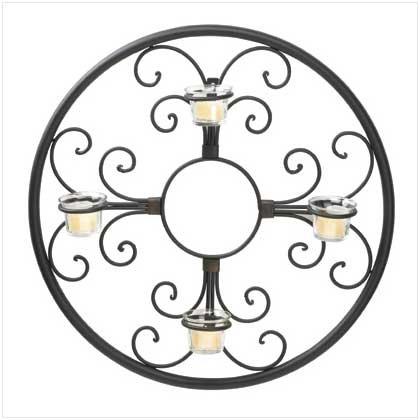 Circular Wall Candle Holder - 37602