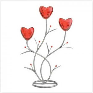 Rose Iron Candleholder - 37871