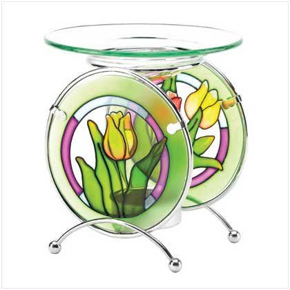 Tulip Stained Glass Oil Warmer - 37891