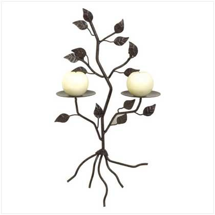 Tree Shaped Wall Candle Holder - 38028
