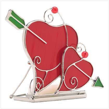Stained Glass Heart Candle Holder - 38224