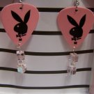 Pink Playboy 1 GUITAR PICK EARRINGS!