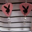 Pink Playboy 2` GUITAR PICK EARRINGS!