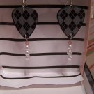 Argyle print 1 GUITAR PICK EARRINGS!