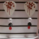 Paintball splatter 2 GUITAR PICK EARRINGS!