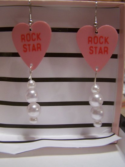 Rockstar earrings 1 GUITAR PICK EARRINGS!