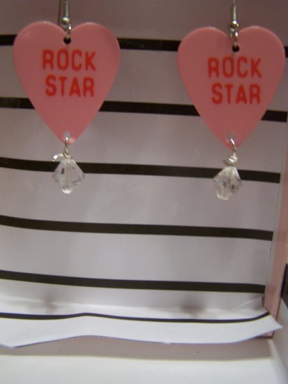 Rockstar earrings 2 GUITAR PICK EARRINGS!