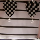 Checkered picks 1 NASCAR GUITAR PICK EARRINGS!
