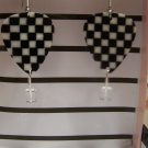 Checkered picks 2 NASCAR GUITAR PICK EARRINGS!