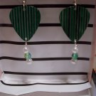 Green Striped picks GUITAR PICK EARRINGS!