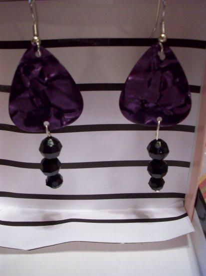 Purple picks 1 GUITAR PICK EARRINGS!