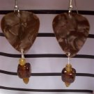 Tan picks 1 GUITAR PICK EARRINGS!
