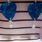 Blue Pearl picks 2 GUITAR PICK EARRINGS!