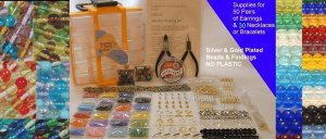 Jewelry Making BEAD Kit  and Carrying Case