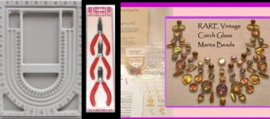 Czech Marea Beads Jewelry Making KIT - Bead Board tools