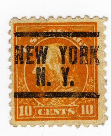 BEN FRANKLIN USA STAMP, USED 10 CENT SCOTT# 472, PRECANCLED, lot 91
