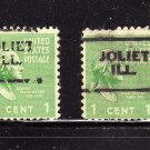 USA SCOTT# 804 1 CENT USED STAMPS, G. WASHINGTON-PRE CANCELED -JOLIET, ILL  LOT #201