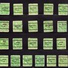 USA SCOTT# 804 1 CENT USED STAMPS, GEORGE WASHINGTON, PA, PENN,  lot # 202