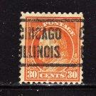 USA SCOTT# 516 PRECANCEL, CHICAGO  ILL, (lot#214)