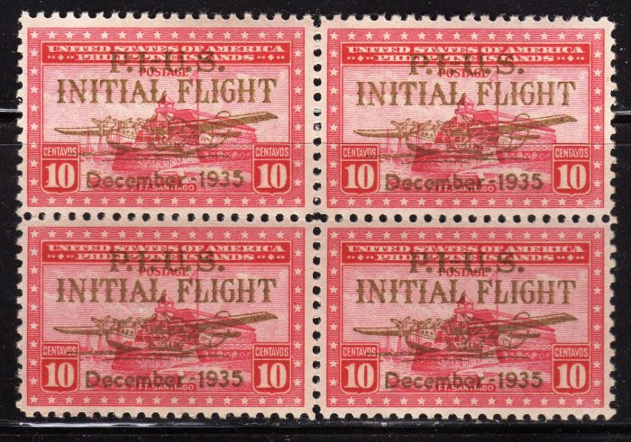 SCOTT# C52-PHILIPPINES-CHINA CLIPPER BLOCK OF FOUR-(LOT#226