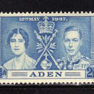 SCOTT# 13, 14, 15-ADEN-KING GEORGE Vl CORONATION SET
