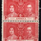 SCOTT# 81 ANTIGUA-VERTICAL PAIR-1937 CORONATION ISSUE