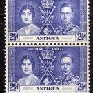 SCOTT# 83 ANTIGUA-VERTICAL PAIR-1937 CORONATION ISSUE