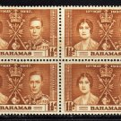 SCOTT# 98, BAHAMA BLOCK OF FOUR-KING GEORGE Vl CORONATION ISSUE