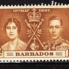 SCOTT# 190, 191, 192, BARBADOS KING GEORGE CORONATION STAMPS
