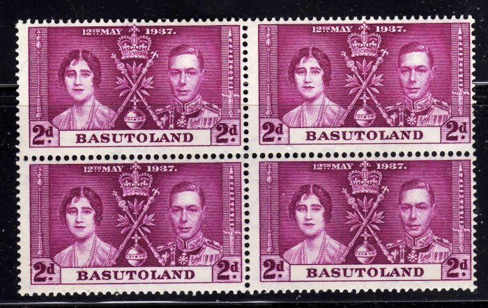 SCOTT# 16, BASUTOLAND-KING GEORGE CORONATION ISSUE