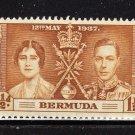 SC0TT# 115, 116, 117 BERMUDA, KING GEORGE Vl CORONATION ISSUE