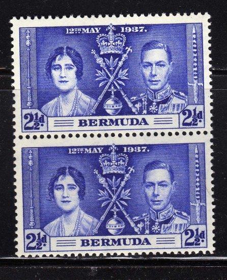 SC0TT# 117 BERMUDA, KING GEORGE Vl CORONATION ISSUE