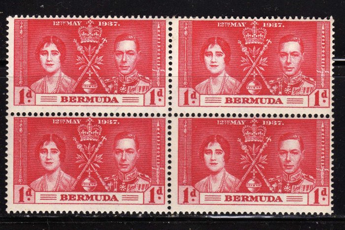 SC0TT# 115 BERMUDA, KING GEORGE Vl CORONATION ISSUE