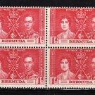 SC0TT# 115 BERMUDA, KING GEORGE Vl CORONATION ISSUE