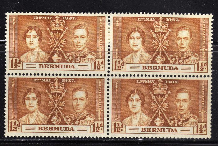 SC0TT# 116 BERMUDA, KING GEORGE Vl CORONATION ISSUE