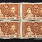 SC0TT# 227, BRITISH GUIANA KING GEORGE Vl CORONATION ISSUE