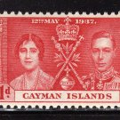 SC0TT# 97, 98, 99 CAYMAN ISLANDS STAMPS KING GEORGE Vl CORONATION ISSUE