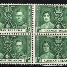 SC0TT# 97 CAYMAN ISLANDS STAMPS KING GEORGE Vl CORONATION ISSUE