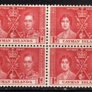 SC0TT# 98 CAYMAN ISLANDS STAMPS KING GEORGE Vl CORONATION ISSUE